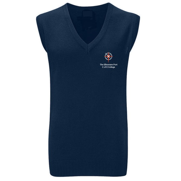 Ellesmere Port C of E College V-Neck Slipover Navy