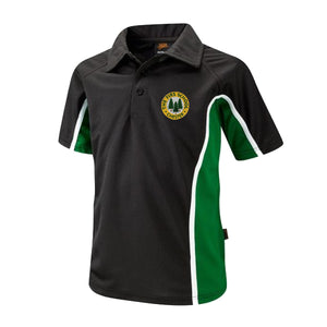 The Firs Boys Polo Black / Emerald / Yellow