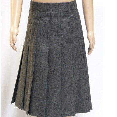 The Firs Pleated Skirt Grey