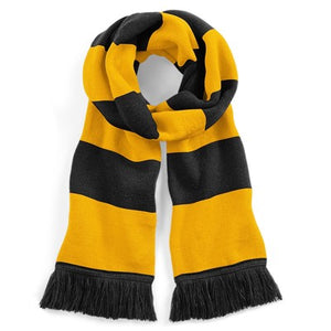The Firs Scarf Grey / Gold