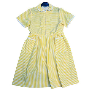The Firs Dress Yellow / White