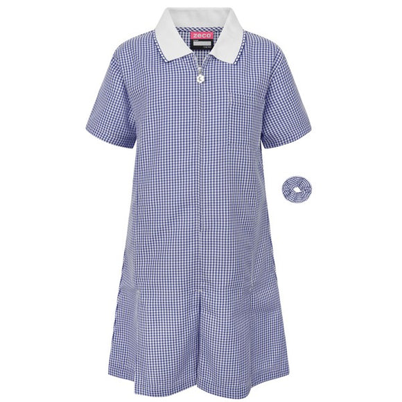 Gingham Dress Navy