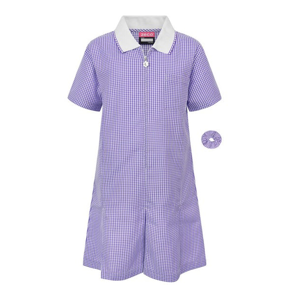 Gingham Dress Purple