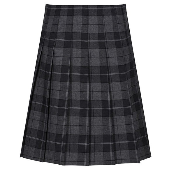 Stitch Down Pleat Tartan Skirt Castle