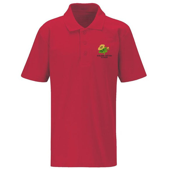 Guilden Sutton Primary Polo Shirt Red