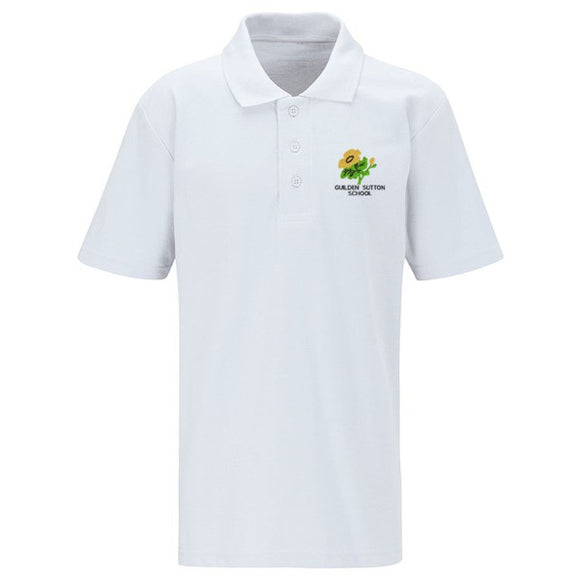Guilden Sutton Primary Polo Shirt White