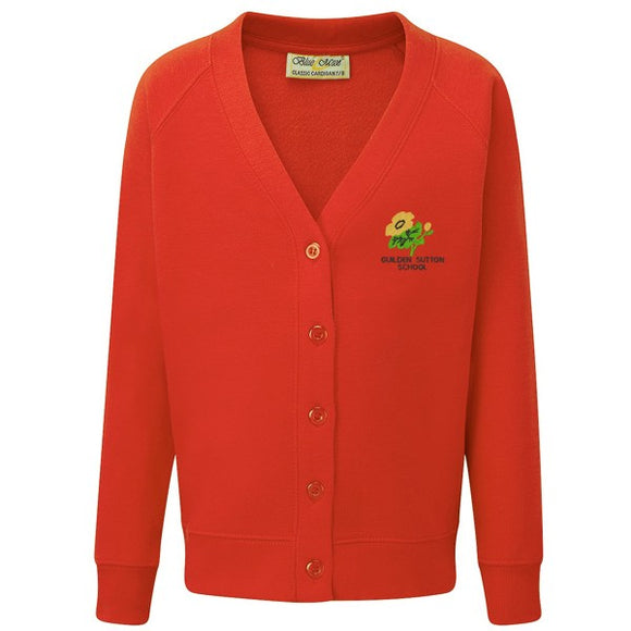 Guilden Sutton Primary Cardigan Red