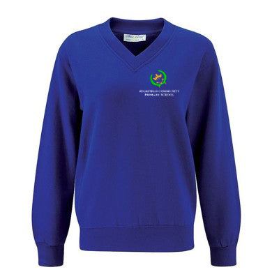 Highfield V-Neck Sweatshirt Deep Royal