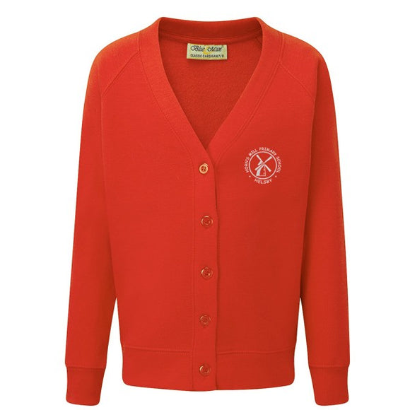 Horn's Mill Cardigan Red