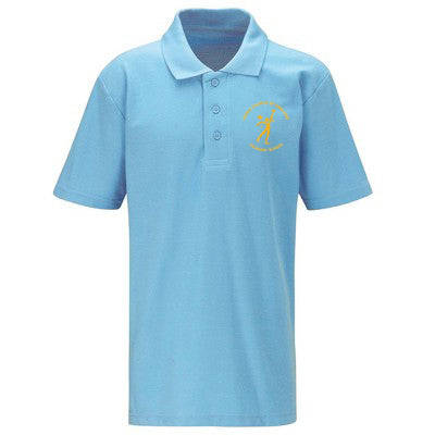 Hoole C of E Polo Shirt Sky