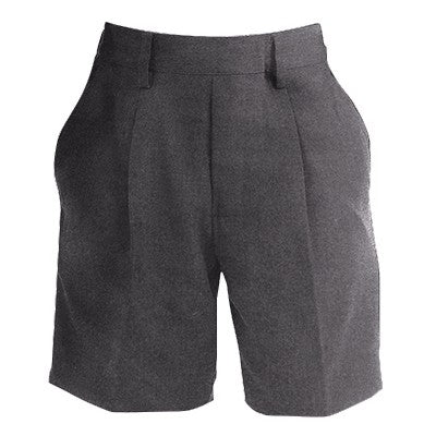 Boys Essex Pleated Shorts Grey
