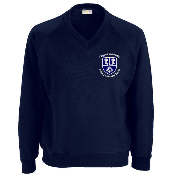 Kingsley Primary V - Neck Sweatshirt Navy