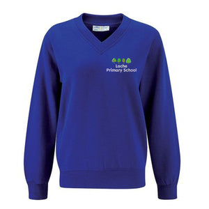 Lache Primary V-Neck Sweatshirt Royal