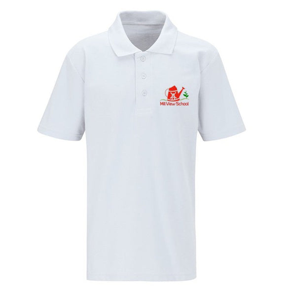 Mill View Primary Polo White