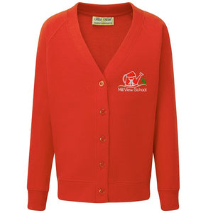 Mill View Primary Cardigan Red