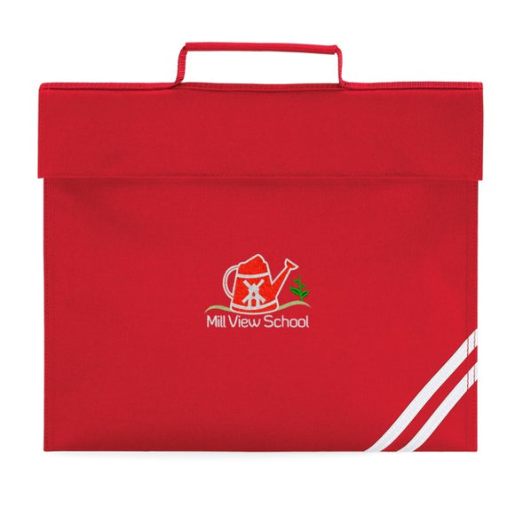 Mill View Primary Book Bag Red