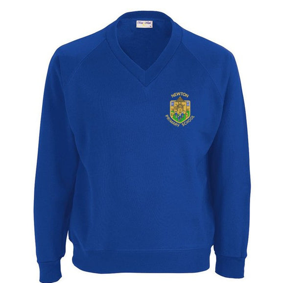 Newton Primary V Neck Sweatshirt Royal