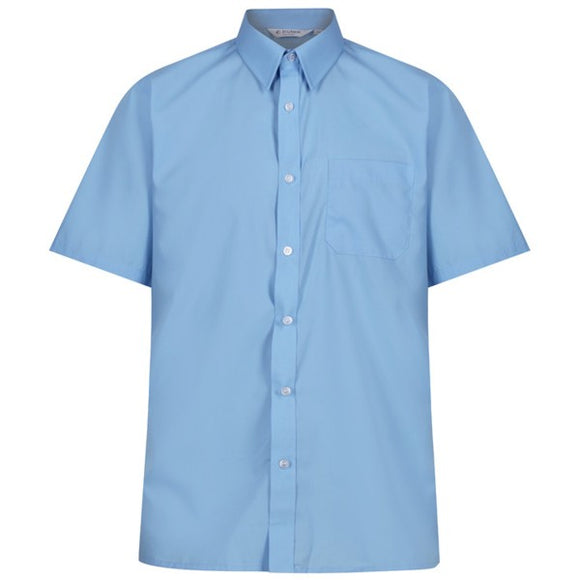 Short Sleeve Shirt (Twin Pack) Blue