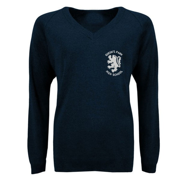 QPH V Neck Jumper Navy