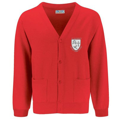 St Anthony's Cardigan Red