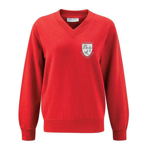 St Anthony's V - Neck Sweatshirt Red