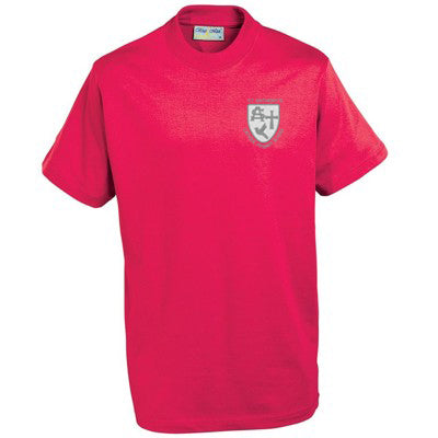 St Anthony's PE T Shirt Red