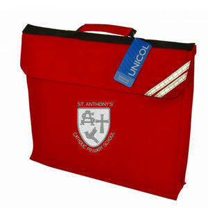 St Anthony's Expandable Book Bag Red