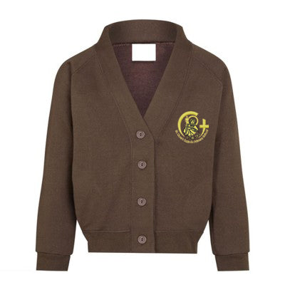 St Clare's Cardigan Brown