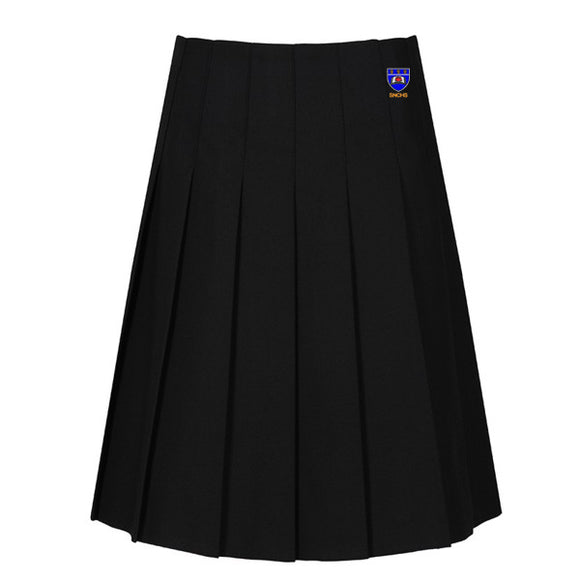 St Nicholas Pleated Skirt Black