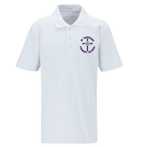 St Theresa's Polo Shirt White