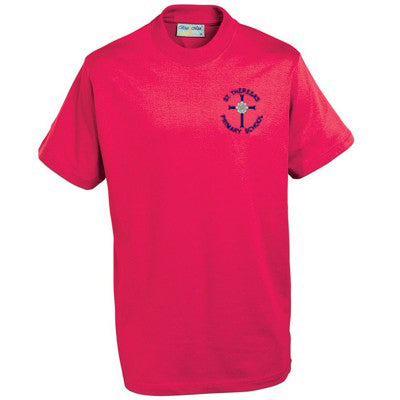 St Theresa's T Shirt Red