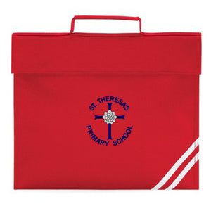 St Theresa's Book Bag Red