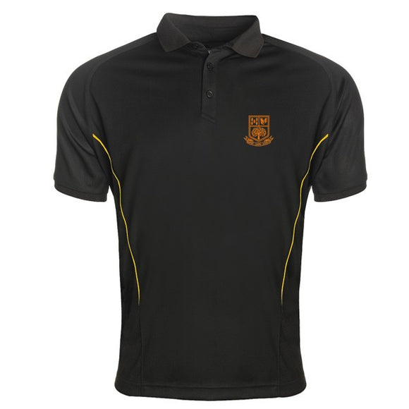 Tarporley High Boys Polo Black / Gold