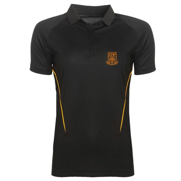 Tarporley High Girls Polo Black / Gold