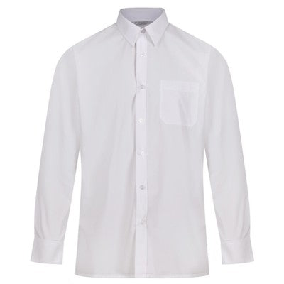 Long Sleeve Shirt (Twin Pack) White