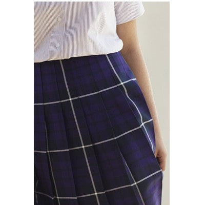 Weaverham Academy Box Pleat Tartan Skirt Purple
