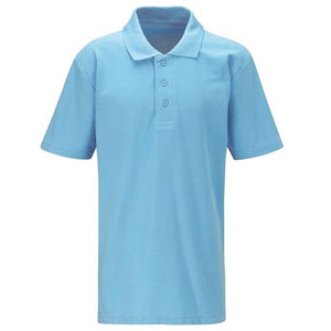 Polo Shirt (No logo) Sky