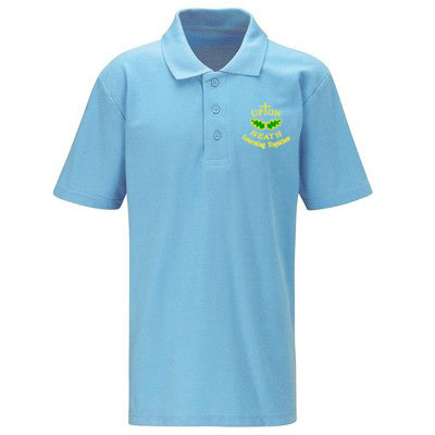 Upton Heath Polo Shirt Sky