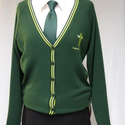 Catholic High Girls V Neck Cardigan