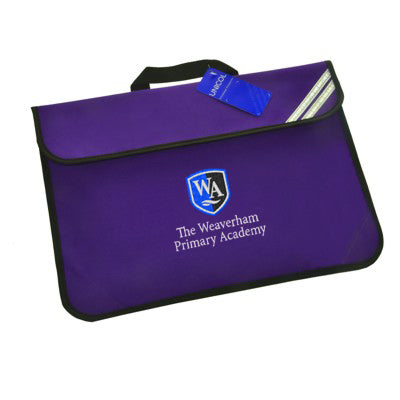 Weaverham Primary Book Bag Purple