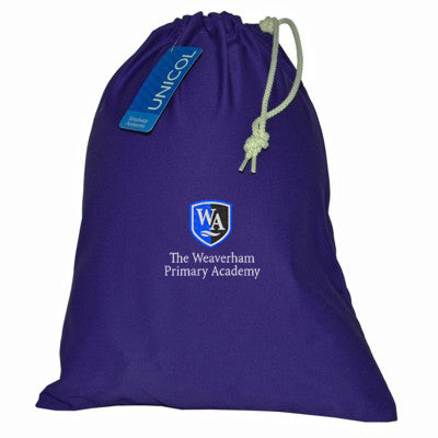 Weaverham Academy Shoe Bag Purple