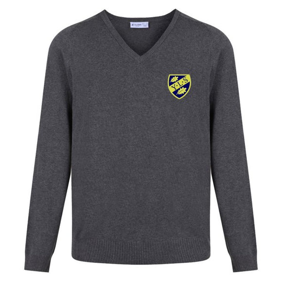Yorston Lodge V Neck Jumper Grey