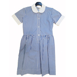 Yorston Lodge Summer Dress Blue / White