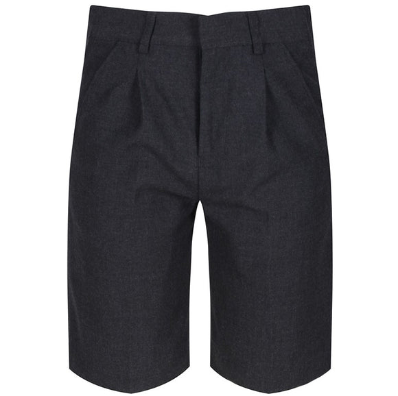 Bermuda Pleated Shorts Grey