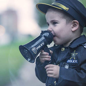 Pretend Police Officer Toy Megaphone with Siren Sounds for Kids