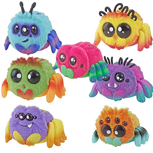 Yellies! 7-Piece Set of Voice-Activated Annoying Pet Spider Toys: Spider Sammie, FlufferPuff; Harry Scoots, Klutzers, Toofy Spooder, Bo Dangles Peeks