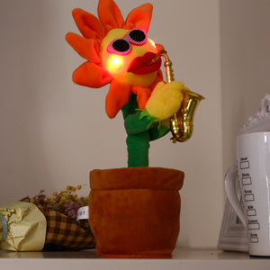 Dancing Music-Playing Sunflower that Sings and Lights Up