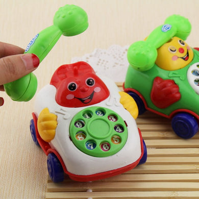 Cute Musical Pull Rope Phone Toy