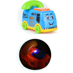 Musical Cartoon Bus Phone With Flashing Lights