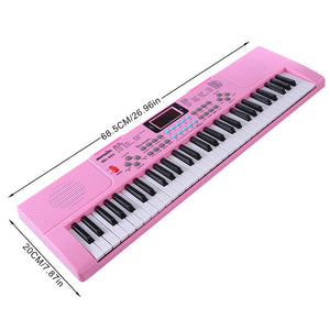 Pink Kids Training Piano Training With 61 Keys